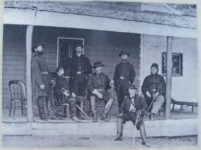 General Alexander McCook and his staff image. Click for full size.