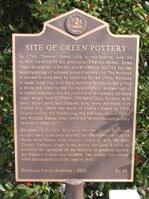 Site of Green Pottery Marker image. Click for full size.