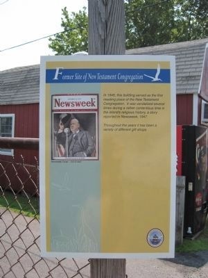Former Site of New Testament Congregation Marker image. Click for full size.