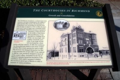 The Courthouses in Richmond Marker image. Click for full size.