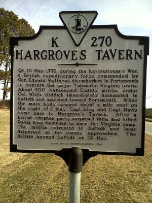 Hargrove's Tavern Marker Closeup image. Click for full size.