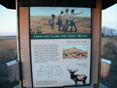 Lewis and Clark Visit Spirit Mound Marker image. Click for full size.