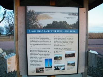 Lewis and Clark Were Here...and Here... Marker image. Click for full size.