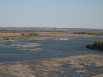 "Missouri River - ""Big Muddy"" - from Ponca State Park overlook image. Click for full size."