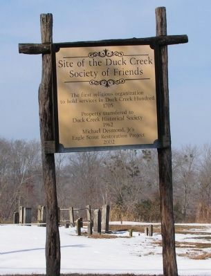 Site of the Duck Creek Society of Friends Marker image. Click for full size.