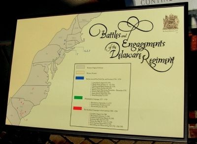 Battles and Engagements of the Delaware Regiment Marker image. Click for full size.