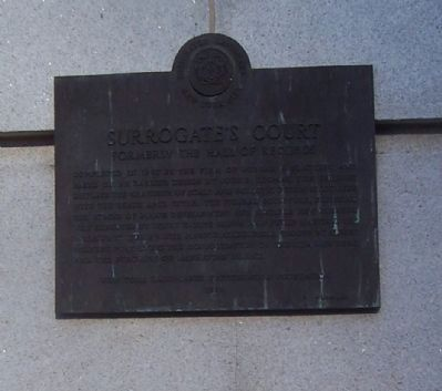 Surrogates Court Marker image. Click for full size.