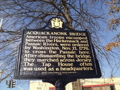 Acquacknonk Bridge Marker image. Click for full size.