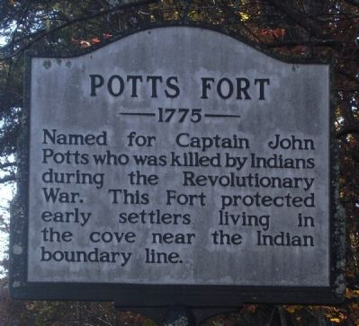 Potts Fort Marker image. Click for full size.