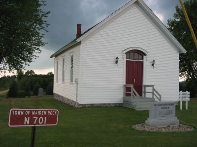 Swedish Methodist Church and Marker image. Click for full size.
