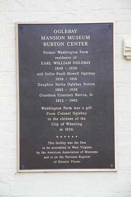 Oglebay Mansion Museum Marker image. Click for full size.