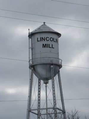 Lincoln Mill water tower image. Click for full size.
