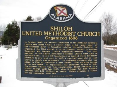 Shiloh United Methodist Church Marker image. Click for full size.