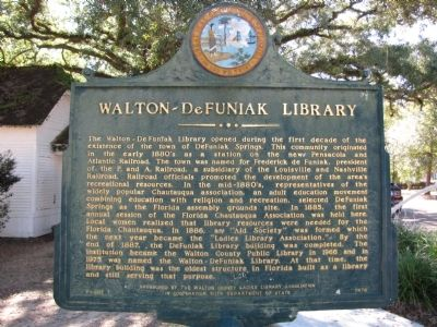 Walton-DeFuniak Library Marker image. Click for full size.