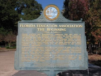 Florida Education Association: The Beginning Marker image. Click for full size.