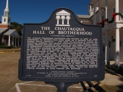 The Chautauqua Hall of Brotherhood Marker image. Click for full size.