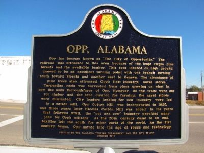 Opp, Alabama Marker image. Click for full size.