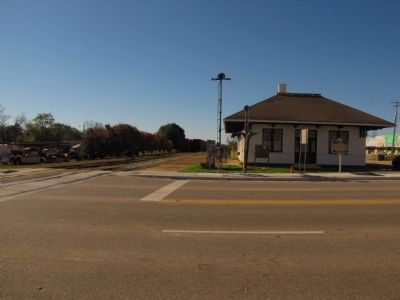 The Depot / Opp, Alabama Marker image. Click for full size.