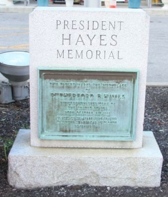 President Hayes Memorial Marker image. Click for full size.