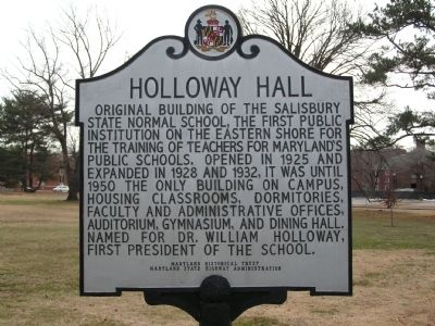 Holloway Hall Marker image. Click for full size.