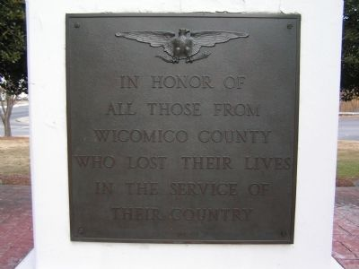 Wicomico County War Memorial image. Click for full size.