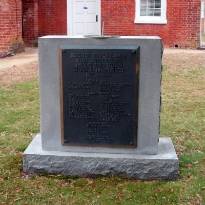 Sussex County War Memorial (front) image. Click for full size.