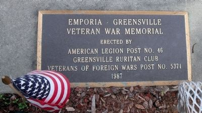 Emporia – Greensville Veteran War Memorial image. Click for full size.