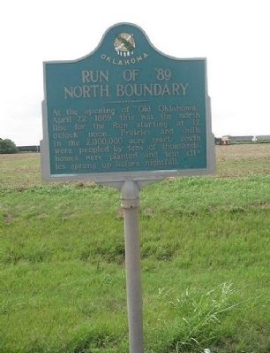 Run of '89 North Boundary Marker image. Click for full size.