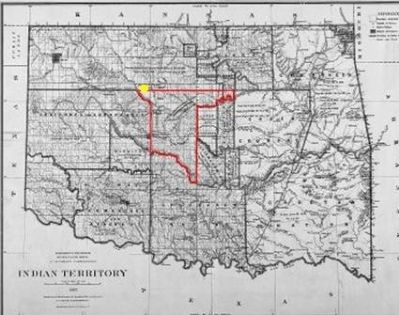 Map of Run of '89 North Boundary Marker image. Click for full size.