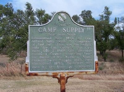 Camp Supply Marker image. Click for full size.