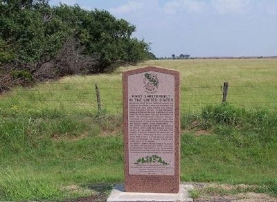 First Shelterbelt in the United States Marker image. Click for full size.