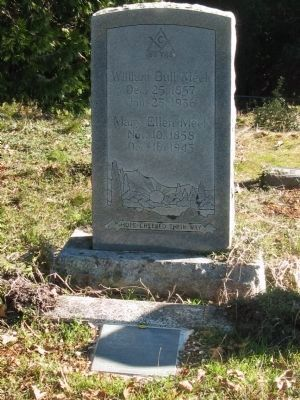 William Bull Meek Marker and Headstone image. Click for full size.