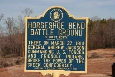 Horseshoe Bend Battle Ground Marker image. Click for full size.