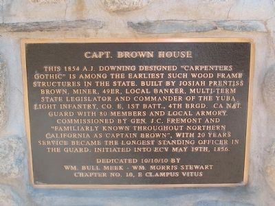 Capt. Brown House Marker image. Click for full size.