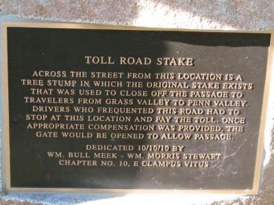 Toll Road Stake Marker image. Click for full size.