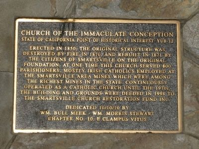 Church of the Immaculate Conception Marker image. Click for full size.