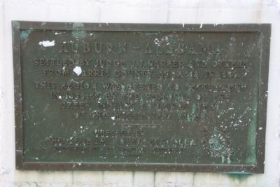 Auburn - Alabama Marker image. Click for full size.