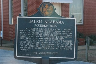 Salem, Alabama Marker (Side B) image. Click for full size.