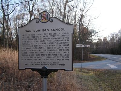 San Domingo School Marker image. Click for full size.