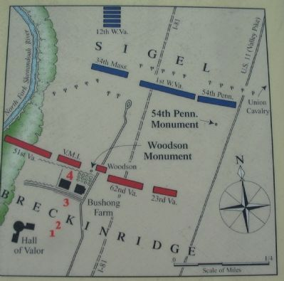 Map Showing Where Cadets Fell image. Click for full size.
