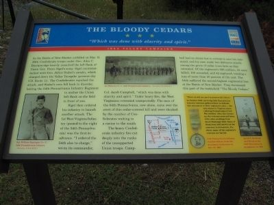 The Bloody Cedars Marker image. Click for full size.