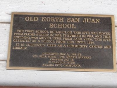 Old North San Juan School Marker image. Click for full size.
