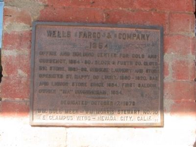Wells Fargo & Company Marker image. Click for full size.