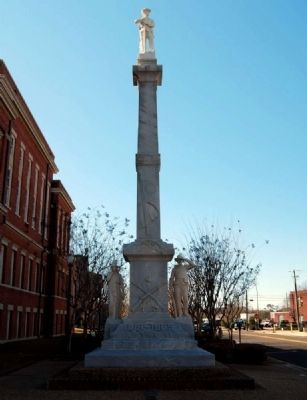 Forrest County Confederate Monument -<br>Northeast Side image. Click for full size.
