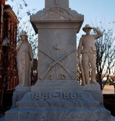 Forrest County Confederate Monument -<br>Northeast Base image. Click for full size.