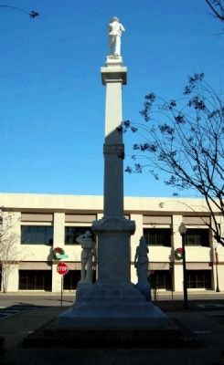 Forrest County Confederate Monument -<br>Southwest Side<br>Paul B Johnson, Jr Building in Background image. Click for full size.