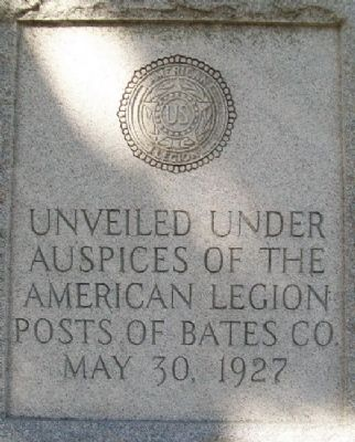 Bates County World War I Memorial Sponsor image. Click for full size.