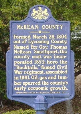 McKean County Marker image. Click for full size.