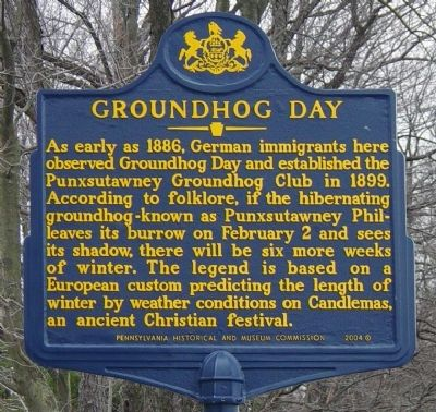 Groundhog Day Marker image. Click for full size.