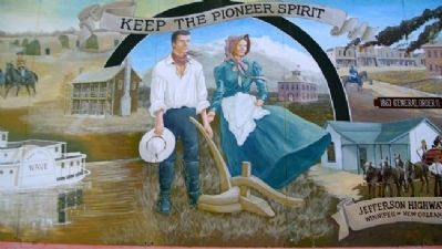 Pioneer Spirit Mural image. Click for full size.